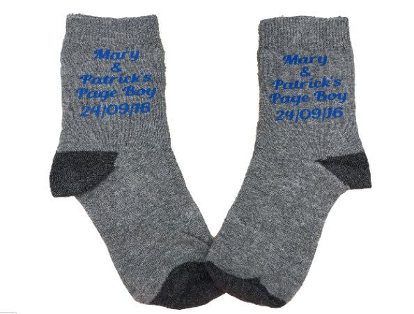 Ring bearer, page boy, usher, personalised socks, ring bearer socks, page boy…