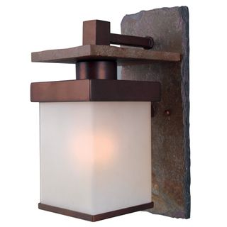 Castellina Natural Slate/ Copper 1-light Medium Wall Lantern - Overstock™ Shopping - Great Deals on Design Craft Wired Landscape Lighting