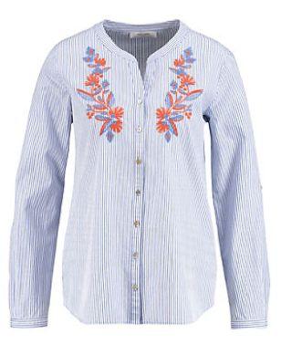Gerry Weber Bluse Langarm Bluse mit Blütenstickerei