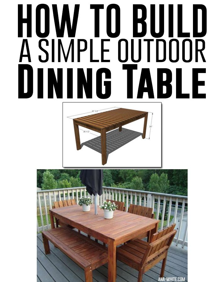 25 best ideas about outdoor dining tables on pinterest for Build your own patio table