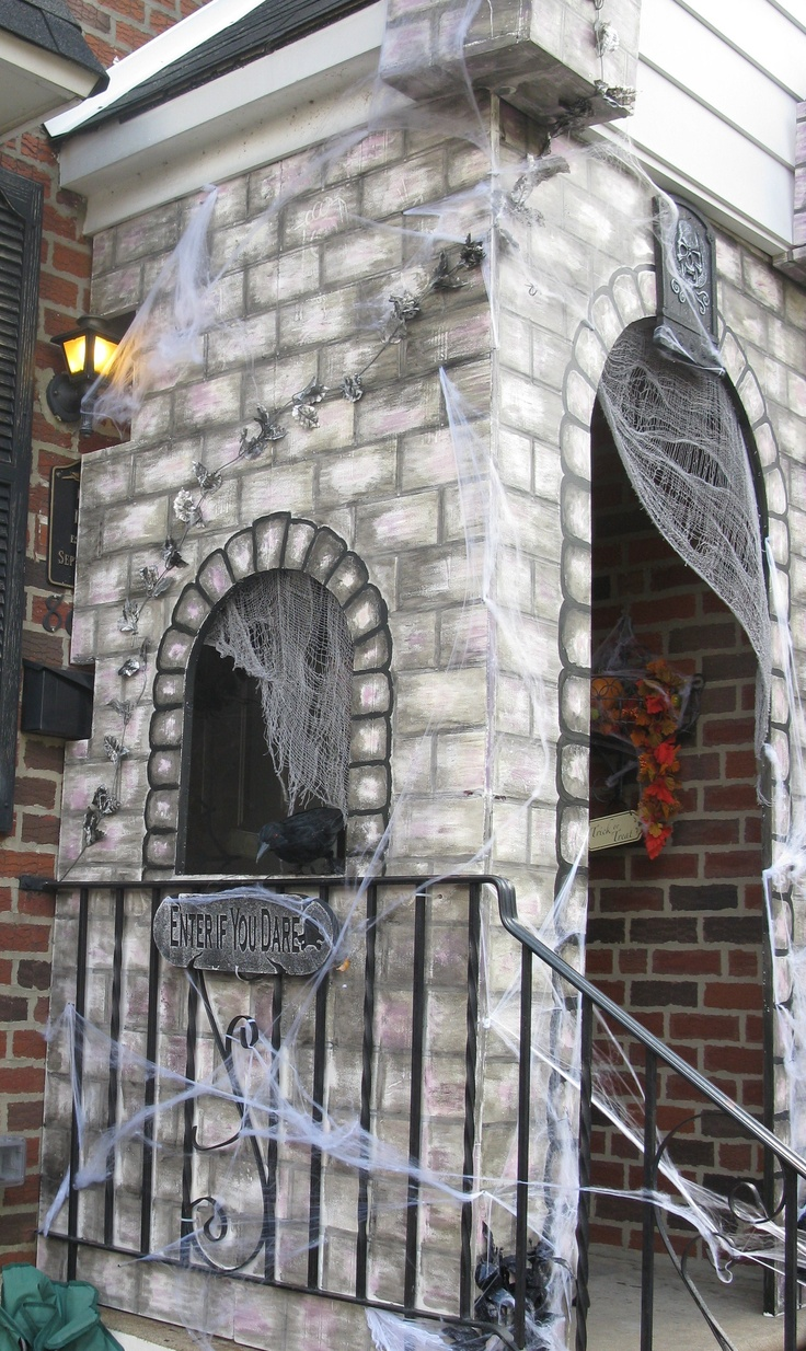 foam art castle turned to halloween haunt - Vampire Halloween Decorations
