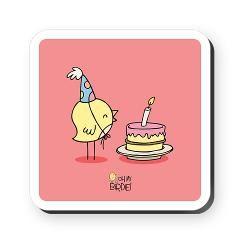 Happy birthday! Square Coaster> Birdie's Home & Deco> Birdie Says