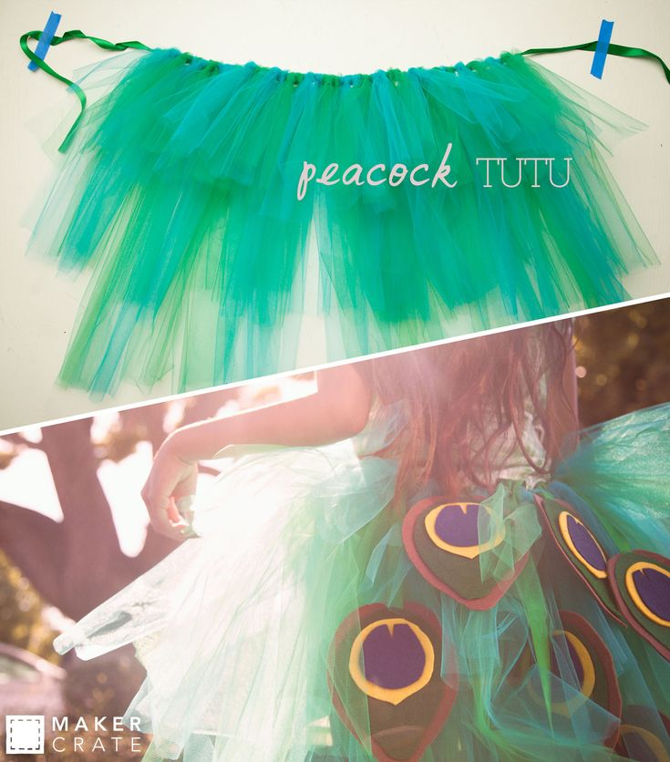 Peacock Tutu | Enjoy the attention this piece will get by recreating your own this Halloween season! | Maker Crate #tutu #halloween #kidscostumes