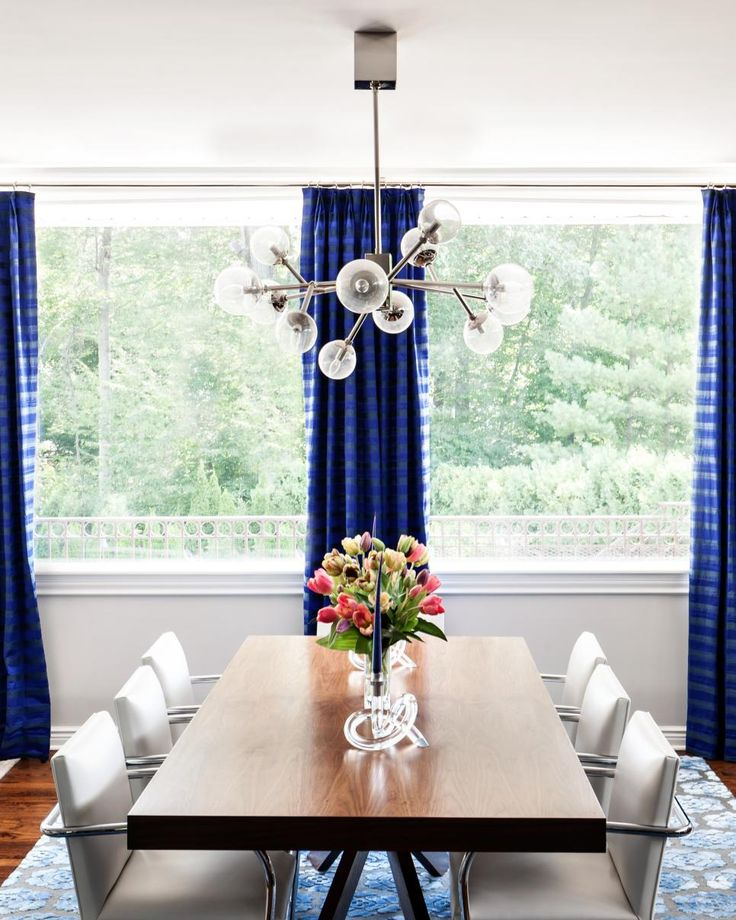 Find This Pin And More On Dream Dining Room By Inspiredyouth97 Brilliant Blue Curtains