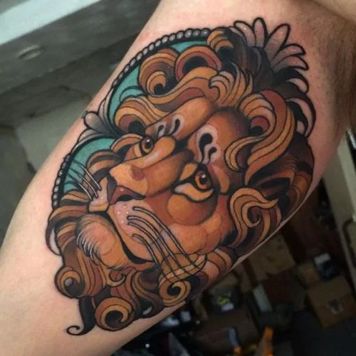 neo traditional lion tattoo - Google 검색                              …