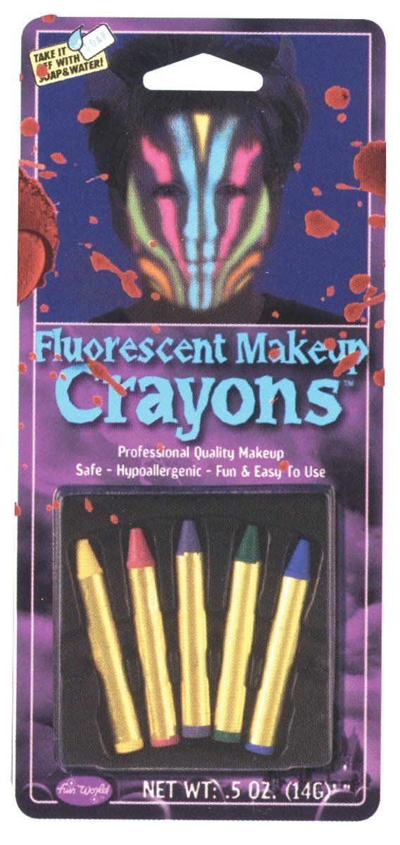 Fun World Costumes Fluorescent Makeup Crayons Makeup
