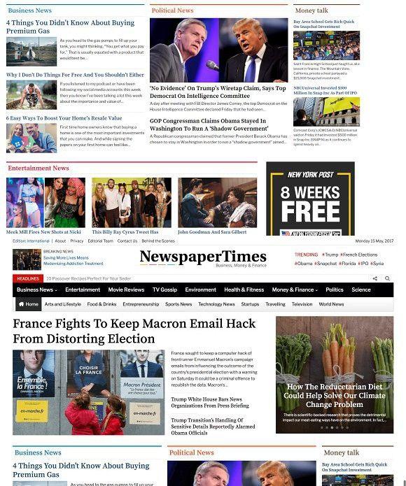 Newspaper Time 2017 WP Theme. WordPress Magazine Themes