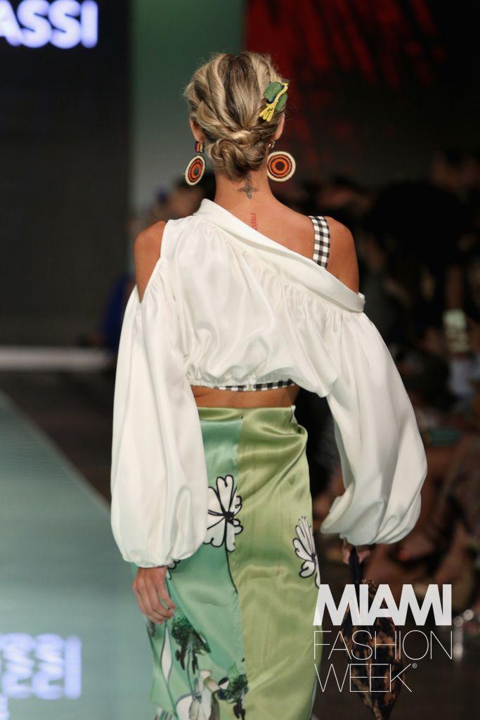 Silvia Tcherassi Runway - Miami Fashion Week#rexfabrics #purveyoroffinefabrics #cometousforfashion #passionforfabrics