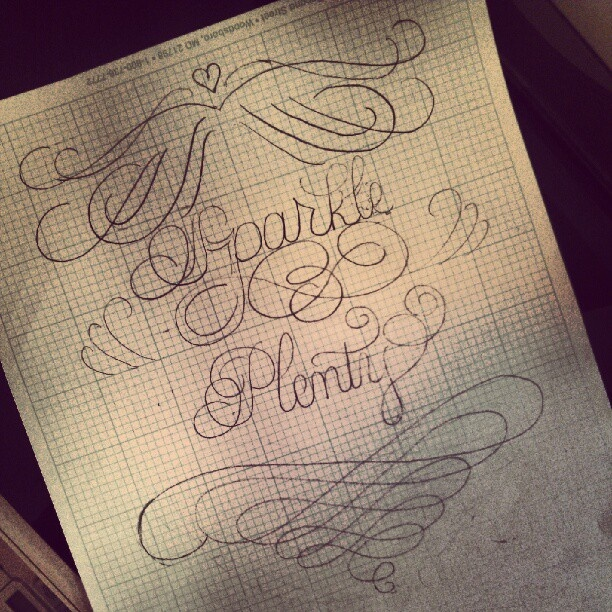 calligraphy sketch in progress to make something pretty :)