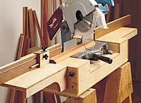 miter saw station woodworking plan