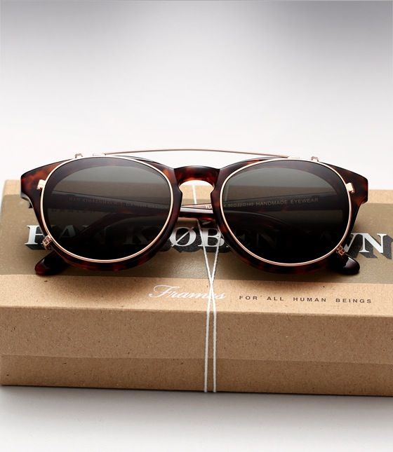 ray ban mens sunglasses styles  fashion meets function: we love this eyeglass, sunglass combo by han kjobenhavn eyewear
