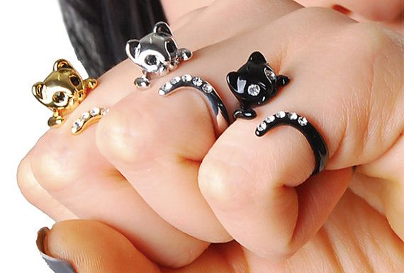 cat rings. made me giggle, and think of hipster spinsters.