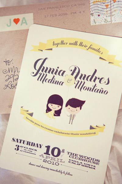 Wedding Invitation: My husband rocked the design of our wedding invites. I love how they came out!