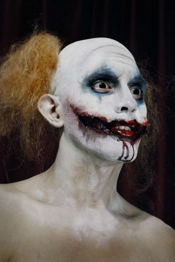 Simple Scary Clown Makeup