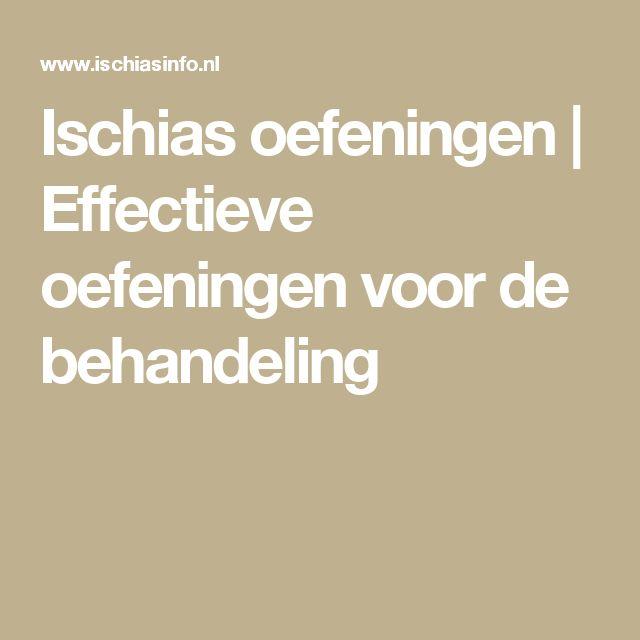 Ischias oefeningen   Effectieve oefeningen voor de behandeling