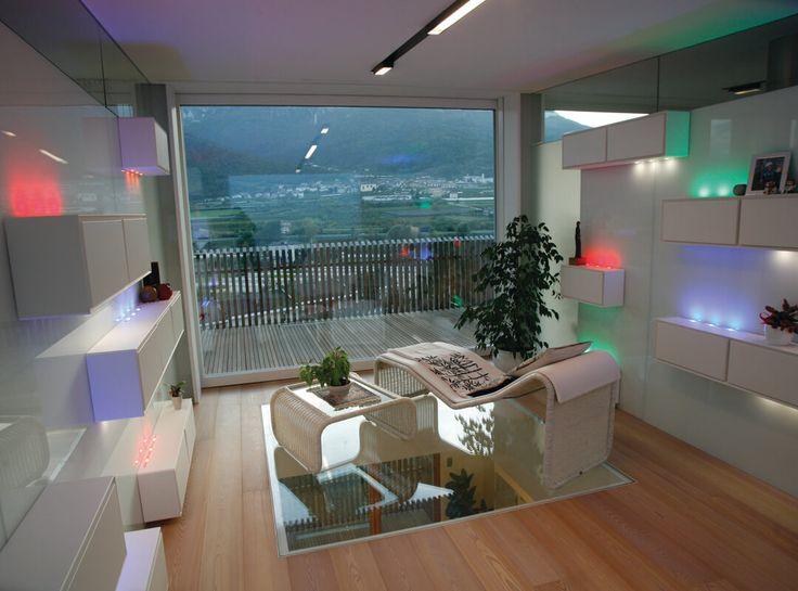Illuminazione Soggiorno Con Barre Led RGB | Progettisti: Burnazzi Feltrin  Architetti | Architetto Paolo Pegoretti