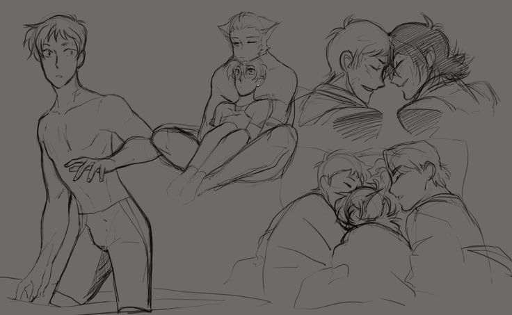 GROUP CUDDLE THERAPY FOR KEITH!! Forehead touches and size differences are a major weakness! AND swimmer Lance?