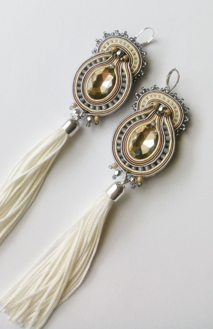 #soutache #sutasz #earrings #kolczyki #frędzle #chwosty