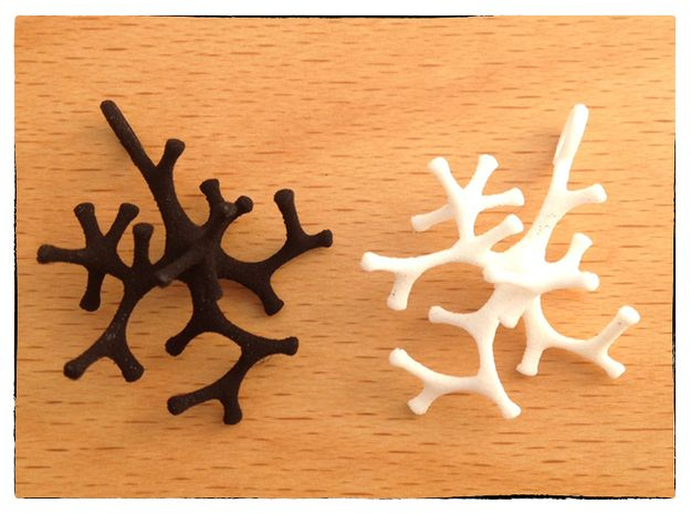 Astrocyte Pendant 3d printed in WSF and BSF