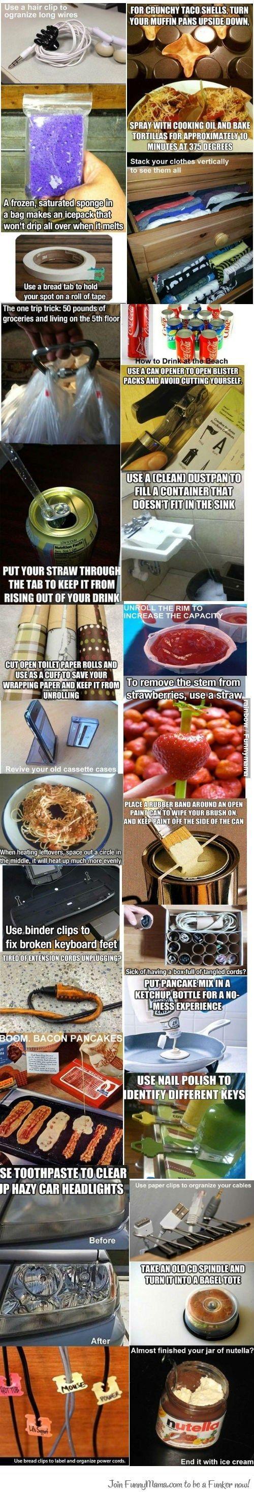 Life tips and tricks ;) life hacks