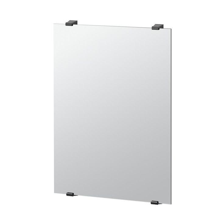Gatco Bleu 31 in. x 22 in. Minimalist Frameless Mirror in Matte Black