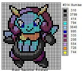 Pokemon 311-321:  Plusle, Minun, Volbeat, Illumise, Roselia, Gulpin, Swalot, Carvanha, Sharpedo, Wailmer, & Wailord