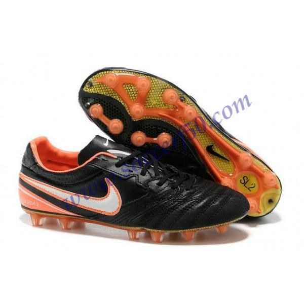 Cheap Nike Tiempo Super Ligera K HG Black Orange White Football Boots
