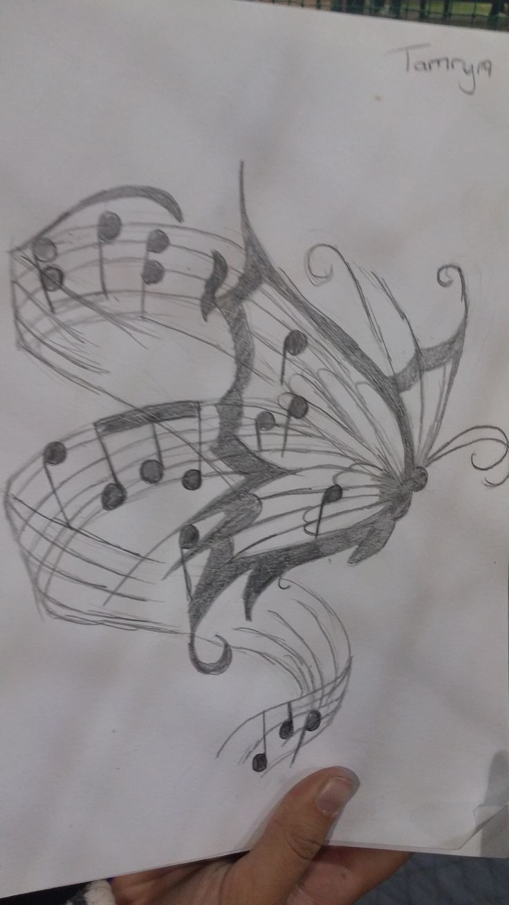 Tammy's butterfly tattoo drawing