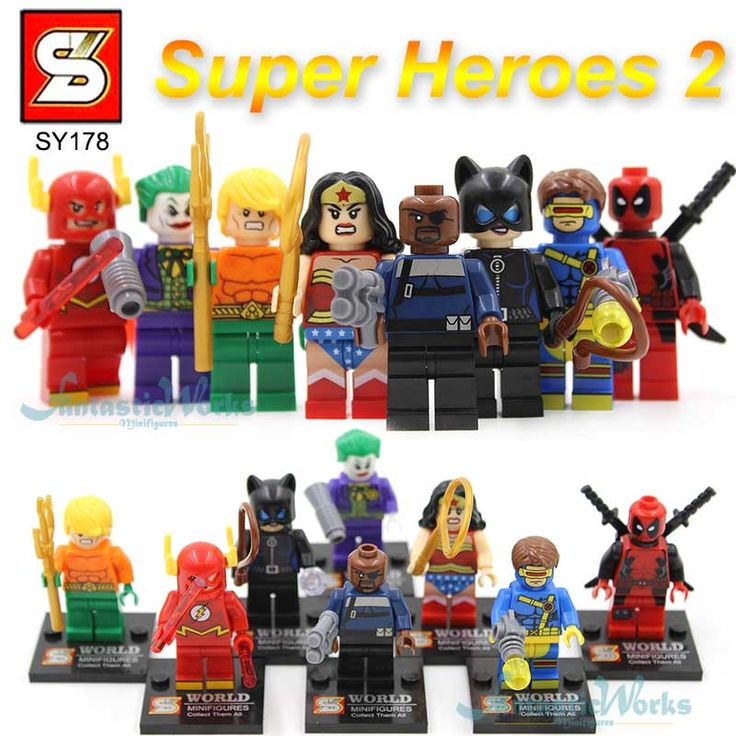 DC Лига Справедливости SY178 ПРОТИВ decool Minifigure Строительные Блоки Minifigures Игрушки Super Heroes Вспышки Deadpool Женщина-Кошка Джокер #women, #men, #hats, #watches, #belts, #fashion, #style