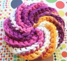 Tricot & crochet: Tawashi en spirale                              …