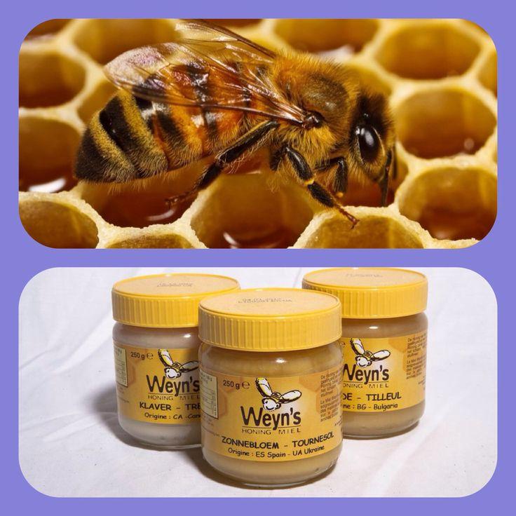 DIVERSEN SOORTEN HONING VAN WEIJN's. De natuurlijke suikers van honing zorgen voor veel energie. Glucose en fructose komen er in voor. GLUCOSE is een suiker dat snel door het lichaam opgenomen wordt en FRUCTOSE wordt langzaam opgenomen en zorgt hiermee voor langdurige energie.