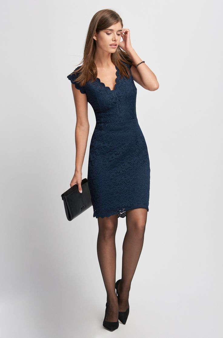 Krajkové šaty pouzdrového střihu | ORSAY