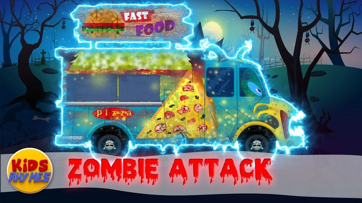 Zombie Attack | Scary Fast Food Truck | Coloring Video #kidsvideos #kids #toddlers #parenting #babyvideos #kidssongs #babysongs #entertainment #playtime