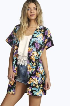 Amelia Tropical Kimono at boohoo.com