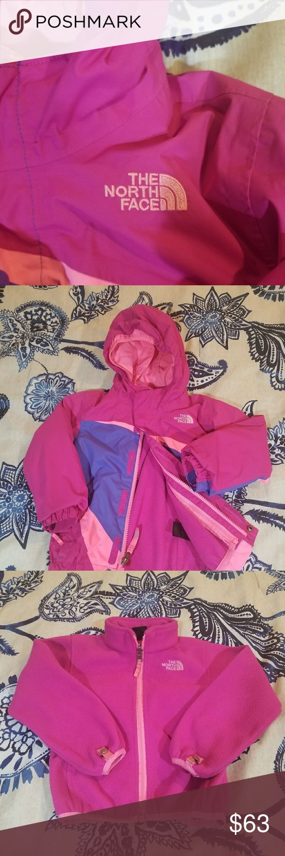 Girls North Face Jacket 3T 3t girls triclimate jacket.  Great jacket for winter. Was only used one winter. Very minimal signs of wear. The fleece lining/sweater is removable so its like getting 2 in 1. The North Face Jackets & Coats