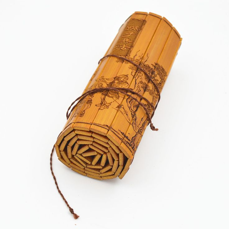 """Bilingual Chinese English Rare Ancient Antiquity Chinese Bamboo Book """"The Art of War""""  Chinese Culture Best  Gifts"""