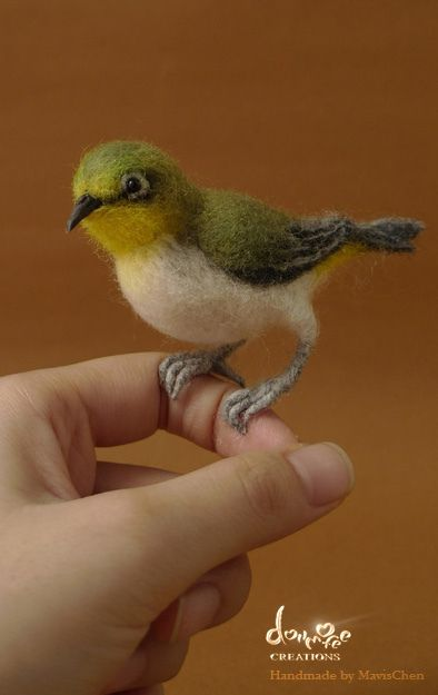 https://flic.kr/p/ct3kcS | #70 Needle Felted Bird | (Zosterops japonicus) 1/1 scale. ♡