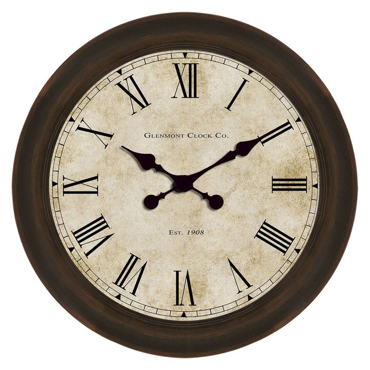 18-in Glenmont Global Clock - At Home
