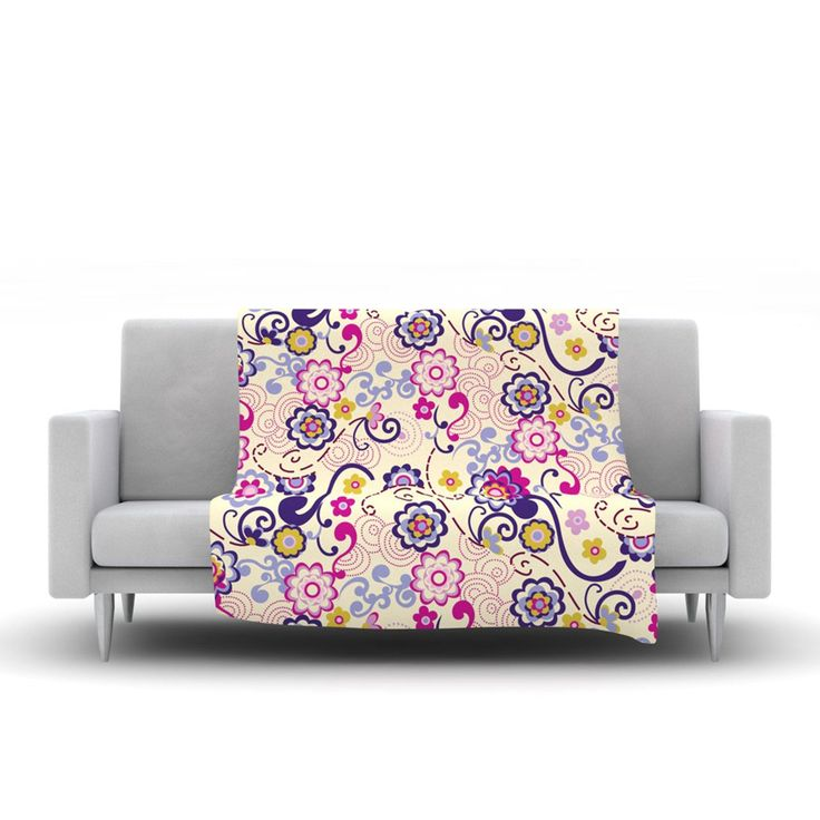 "Louise Machado ""Arabesque"" Fleece Throw Blanket"