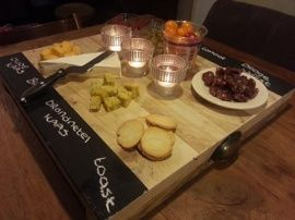 tapas plate, also for diy, such a great idea to be able to write down whats on the plate. no more explaining all the time :)