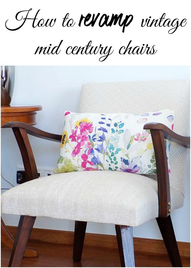 How to revamp vintage mid century chairs Καινούργια εμφάνιση για παλιές καρέκλες