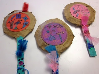 "Paper plate ""rattles"" for Native American Lesson plan"