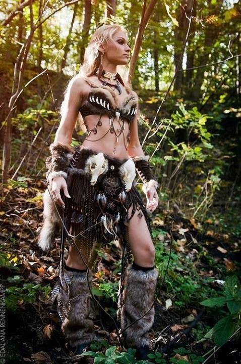 Perfect shaman hunter costume!