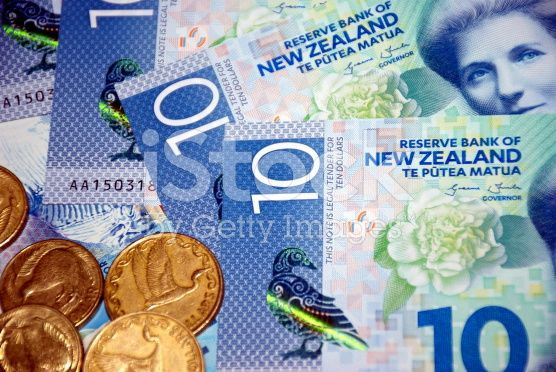 New Zealand Money (NZD); Dollars & Coins royalty-free stock photo