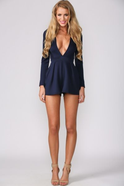 Legally Navy Playsuit