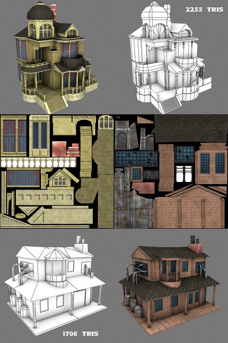 Low poly Games Building by ~Conglaci on deviantART
