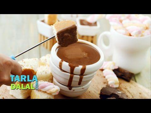Classic chocolate fondue, Recipe in Hindi ( क्लासिक चॉकलेट  फ़न्ड्यू ) by Tarla Dalal - YouTube