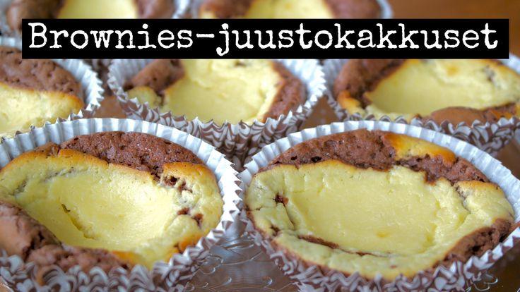 Brownies-juustokakkuset