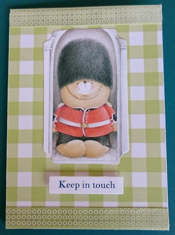 Handmade C7 3D Greeting Card  Keep in Touch by BavsCrafts on Etsy
