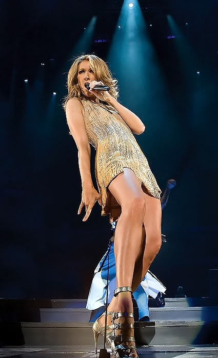 Celine Dion... for her crazy moves. And okay, her vocals too!
